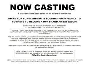 DvF casting ad